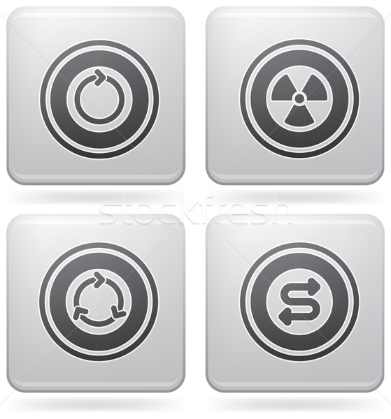 Platina vierkante abstract bos web icons Stockfoto © Vectorminator