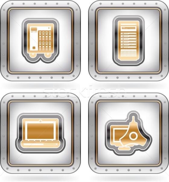 Számítógép alkatrészek kellékek itt helyes kicsi Stock fotó © Vectorminator