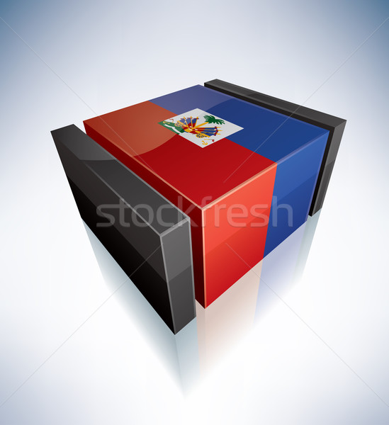 3D flag of Haiti Stock photo © Vectorminator