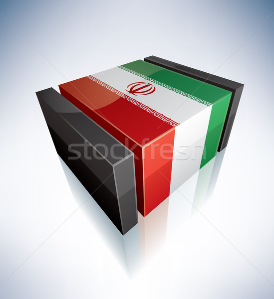 3D flag of Iran Stock photo © Vectorminator