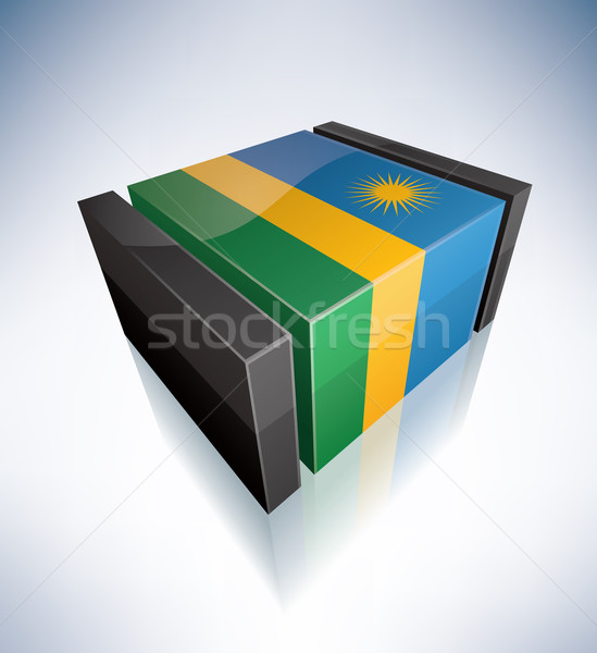 3D flag of Rwanda Stock photo © Vectorminator