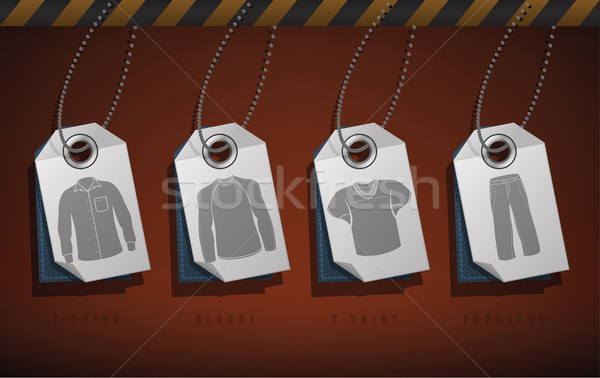 Giyim doğru tshirt bluz pantolon Stok fotoğraf © Vectorminator