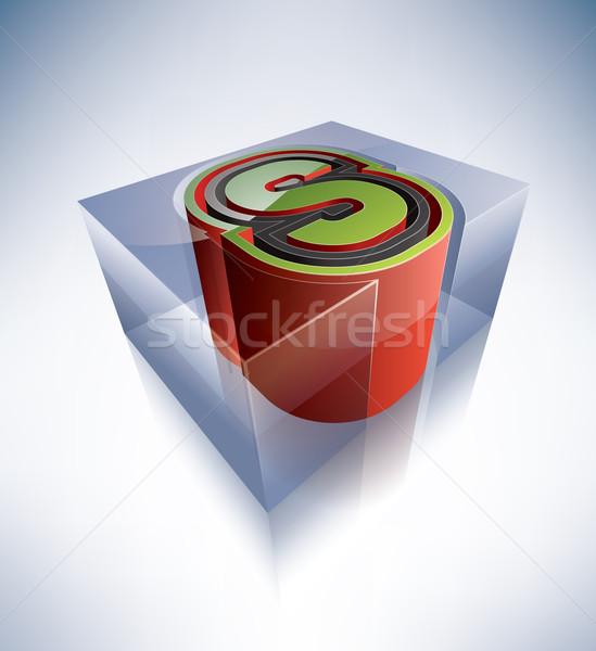3D alphabet: Capital letter S Stock photo © Vectorminator