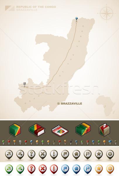 República Congo África mapas extra Foto stock © Vectorminator