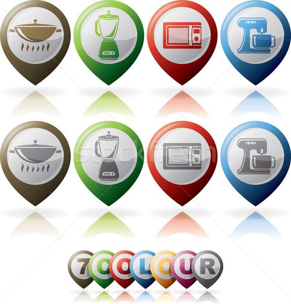 Keuken dag vorm wok Stockfoto © Vectorminator