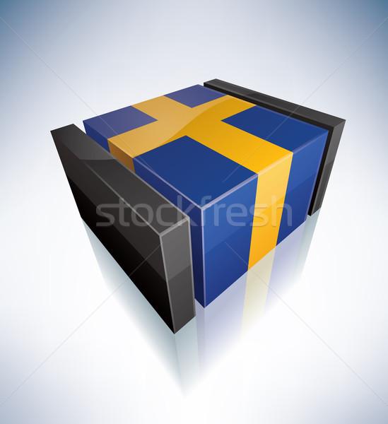 3D flag of Sweden Stock photo © Vectorminator