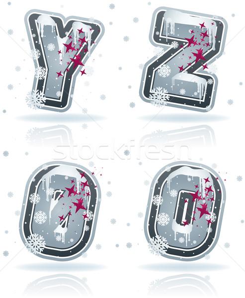 письма зима Рождества стиль Сток-фото © Vectorminator