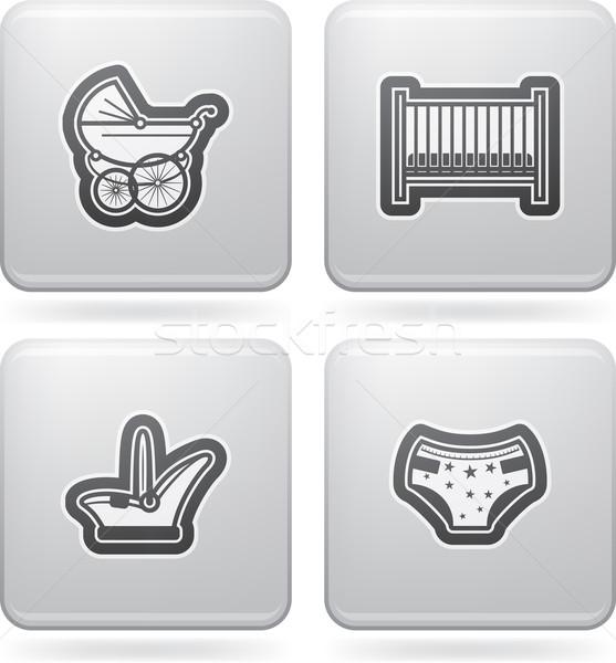 Bebek doğmuş tüm gıda nesneler Stok fotoğraf © vectorminator