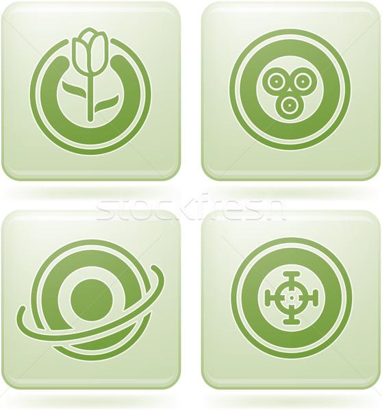 Vierkante abstract bos web icons algemeen Stockfoto © Vectorminator