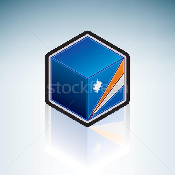 Океания флаг республика 3D изометрический Сток-фото © Vectorminator
