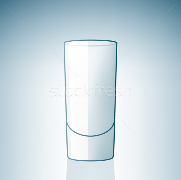 Vide vodka verre alcool boire Photo stock © Vectorminator