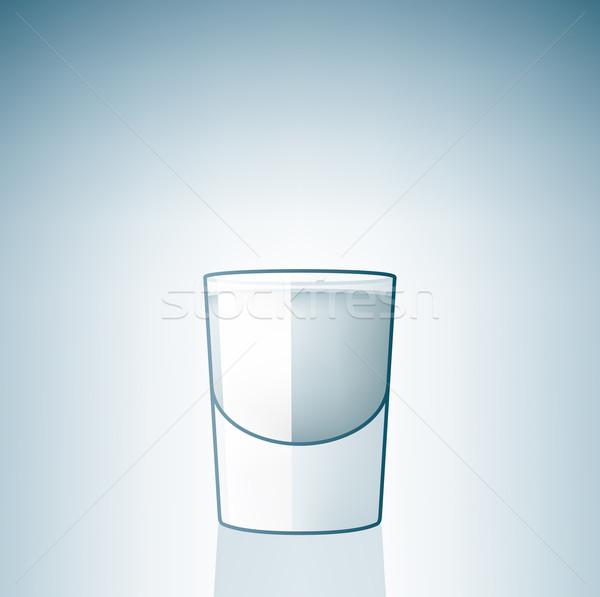 Vodka üveg alkohol ikon szett ital gomb Stock fotó © Vectorminator