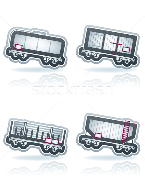 Industry Icons: Railroad transportation Stock photo © Vectorminator