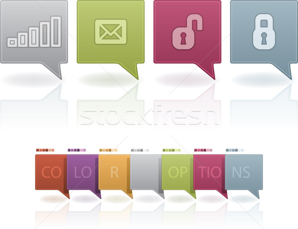 Old-fashion Phone Icons Status Icons Stock photo © Vectorminator