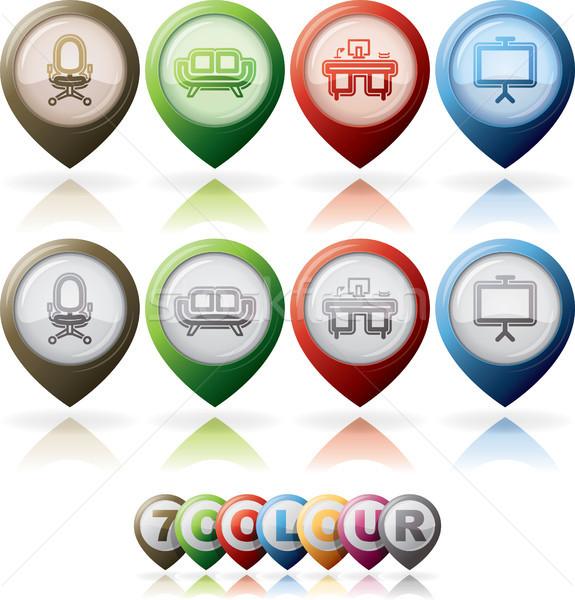 Kantoor leveren alle spullen objecten hier Stockfoto © Vectorminator
