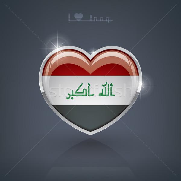 Iraque forma de coração bandeiras república coração Foto stock © Vectorminator