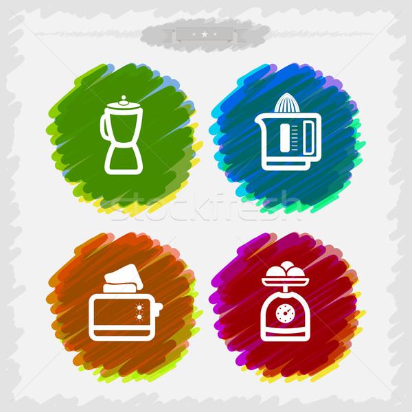 Mutfak aletleri banyo diğer her gün işler Stok fotoğraf © Vectorminator