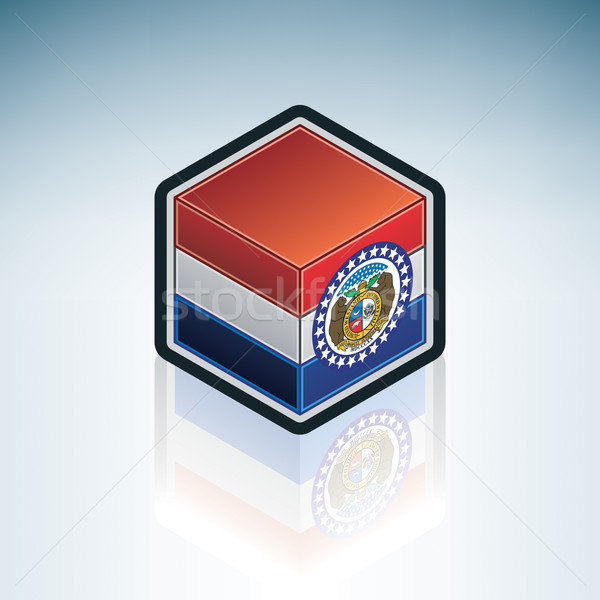 Missouri pavillon États-Unis Amérique 3D isométrique Photo stock © Vectorminator