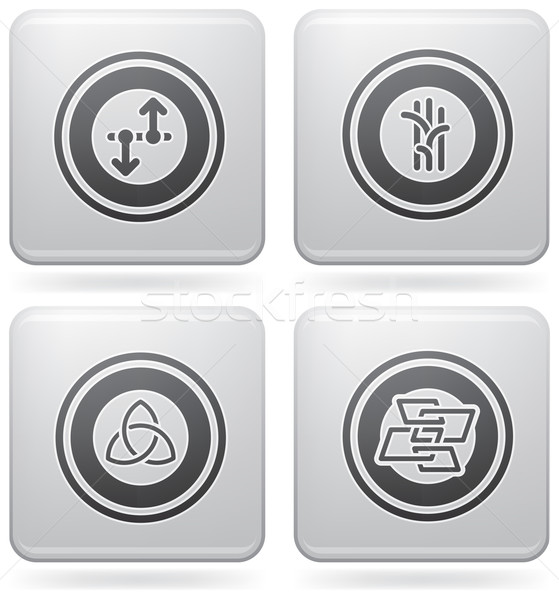 Miscellaneous Platinum Icons Stock photo © Vectorminator