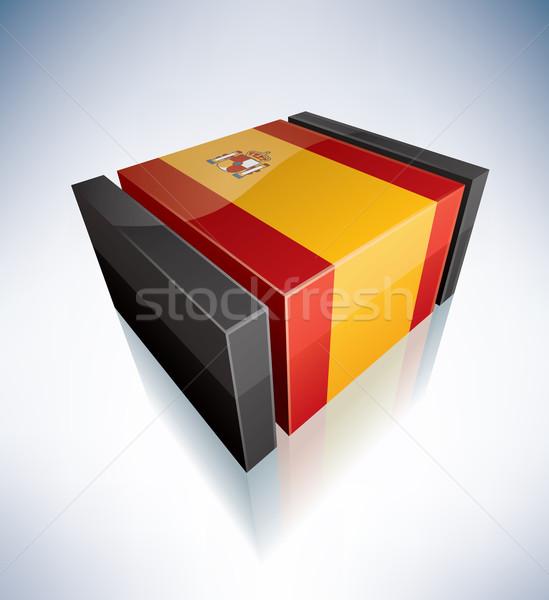 3D flag of Spain Stock photo © Vectorminator