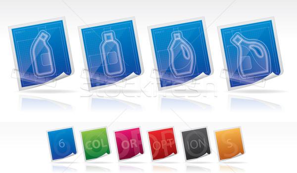 Schoonmaken ander tools bleekmiddel fles Stockfoto © Vectorminator