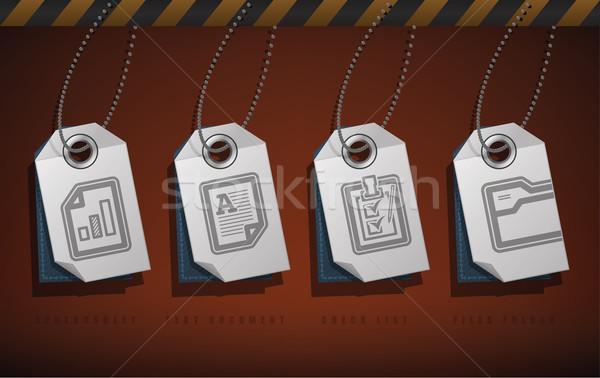 служба поставлять объекты право Top нижний Сток-фото © Vectorminator