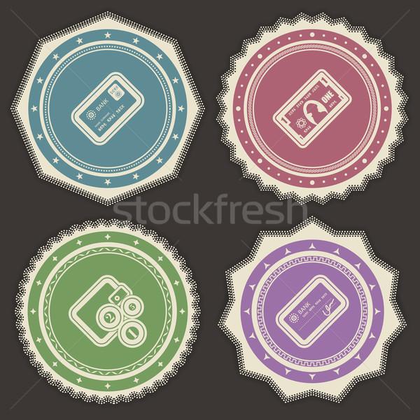 Kantoor leveren objecten creditcard nota portemonnee Stockfoto © Vectorminator