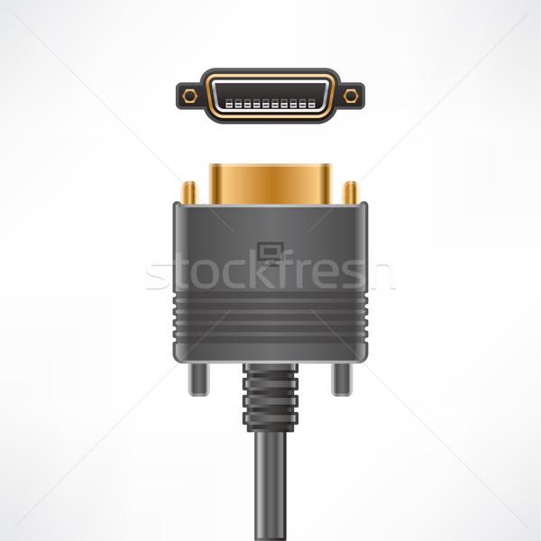 Kabel komputerowy wtyczkę cyfrowe płyta gniazdo komputera Zdjęcia stock © Vectorminator