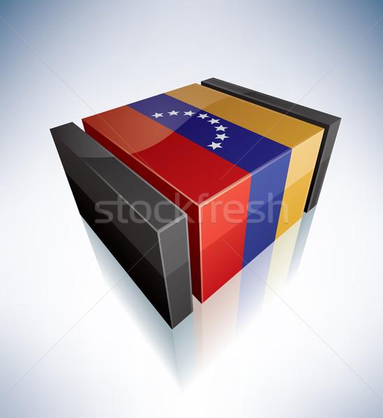 3D zászló Venezuela dél-amerika köztársaság zászlók Stock fotó © Vectorminator
