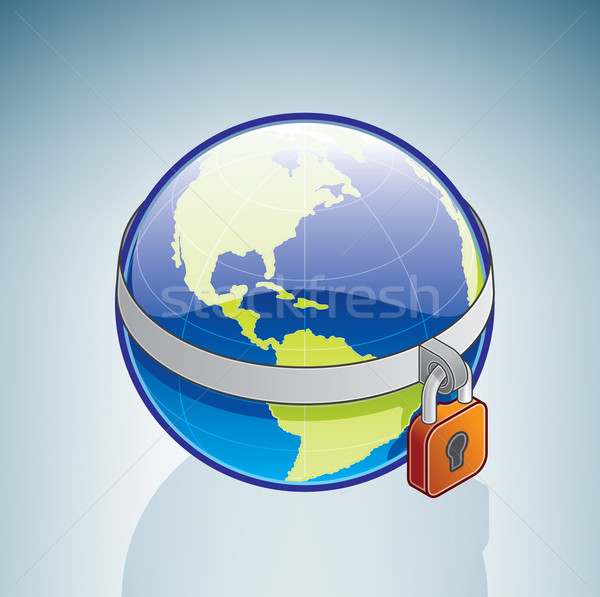ストックフォト: 世界中 · ロッカー · 3D · アイソメトリック · 地球