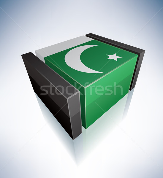3D bayrak Pakistan Asya cumhuriyet Stok fotoğraf © Vectorminator