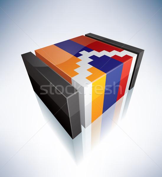 3D flag of Nagorno-Karabakh Stock photo © Vectorminator