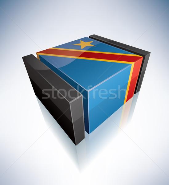 3D flag of Congo Stock photo © Vectorminator