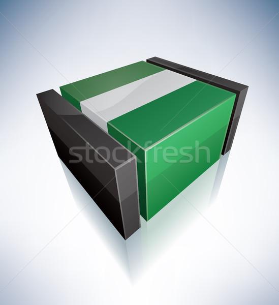 3D bayrak Nijerya Afrika federal cumhuriyet Stok fotoğraf © Vectorminator