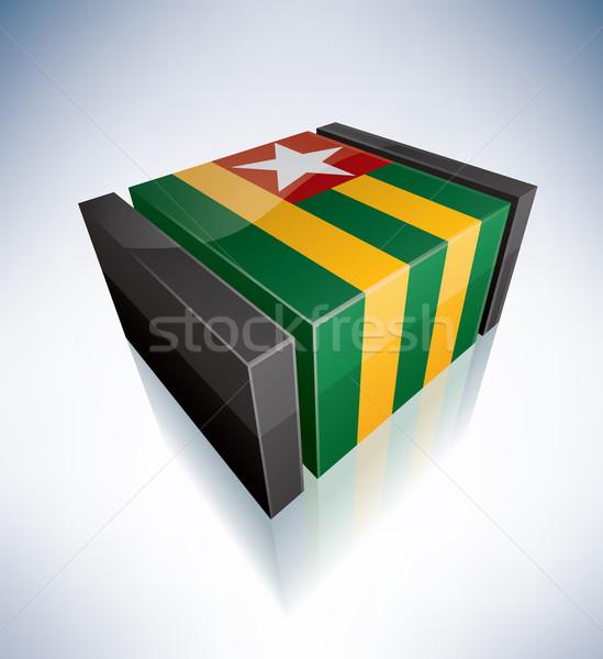 3D flag of Togolese Republic Stock photo © Vectorminator