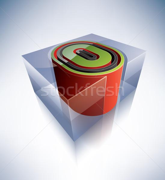3D alphabet: Capital letter O Stock photo © Vectorminator
