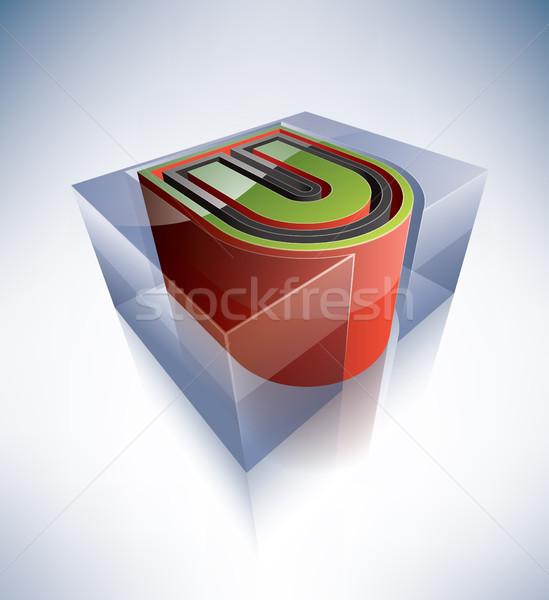 3D alphabet: Capital letter U Stock photo © Vectorminator
