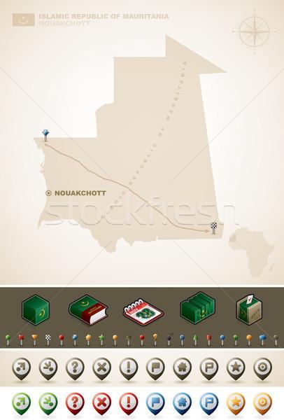 Mauritanie république Afrique cartes Photo stock © Vectorminator