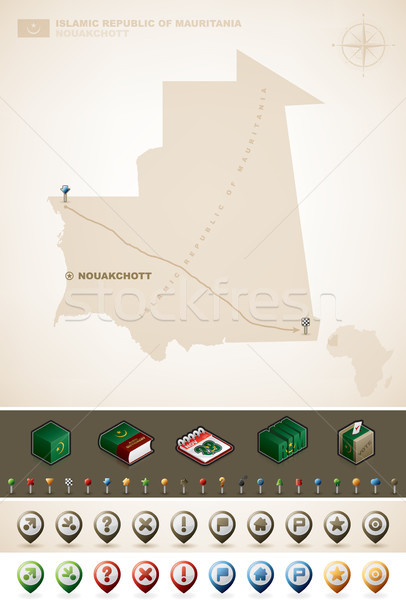 Mauritania república África mapas Foto stock © Vectorminator