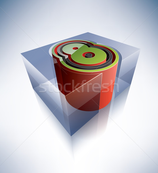 3D alfabeto dígito transparente cubo de hielo como Foto stock © Vectorminator