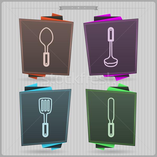 Kitchen Utensils Stock photo © Vectorminator