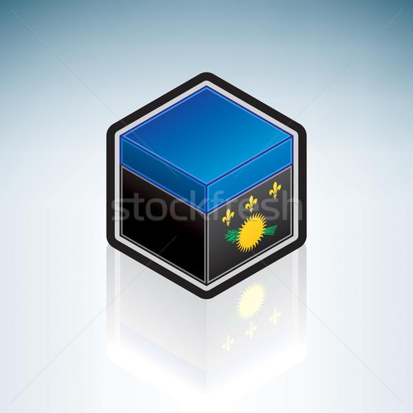Южной Америке флаг 3D изометрический стиль икона Сток-фото © Vectorminator