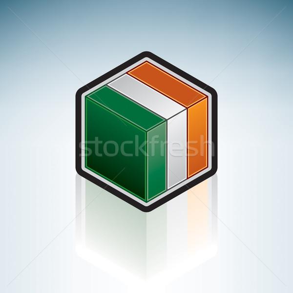 Republic of Ireland { Europe } Stock photo © Vectorminator