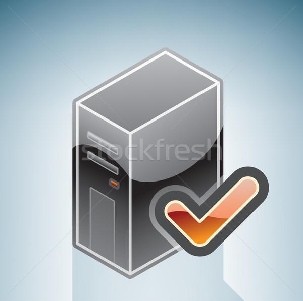 Ağ bilgisayar giriş izometrik 3D donanım Stok fotoğraf © Vectorminator