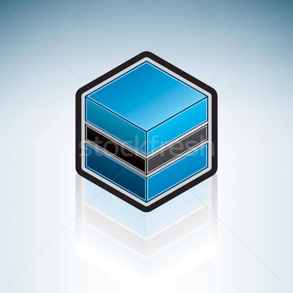 Botswana Afryki banderą republika 3D izometryczny Zdjęcia stock © Vectorminator