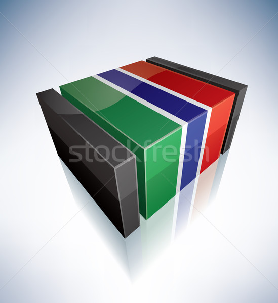 3D flag of Gambia Stock photo © Vectorminator