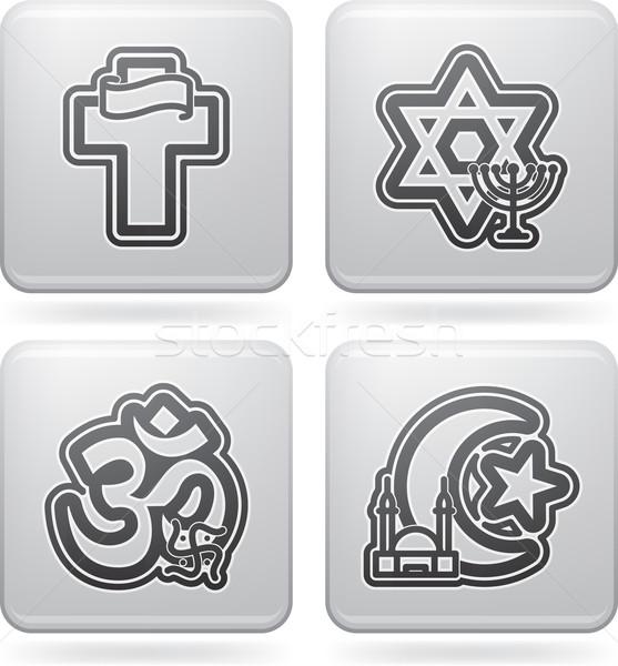 Religii tutaj chrześcijaństwo judaizm hinduizm Zdjęcia stock © Vectorminator