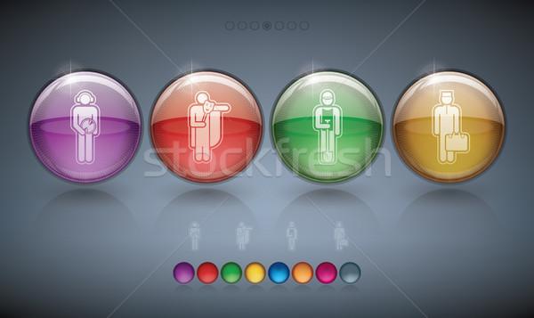 оккупация иконки четыре различный Сток-фото © Vectorminator