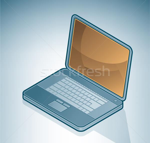 ноутбука ноутбук изометрический 3D компьютер аппаратных Сток-фото © Vectorminator