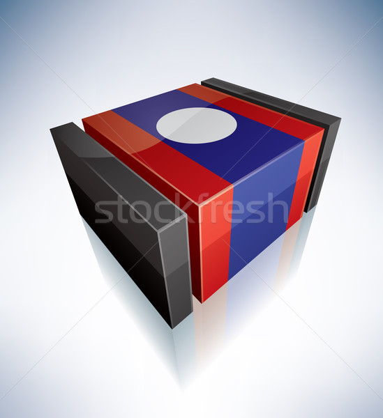3D flag of Lao Stock photo © Vectorminator